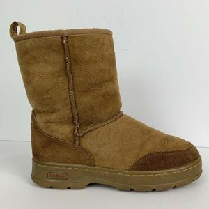 L.L. Bean Suede Sherpa Lined Winter Boots